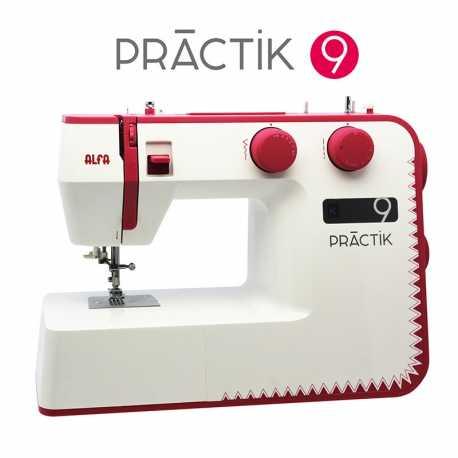 Máquina de coser Alfa PRACTIK 9, 34 puntadas y enhebrado automático