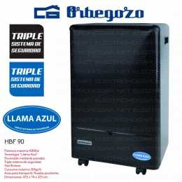Estufa de gas LLAMA AZUL Orbegozo HBF 90 4200W BUTANO