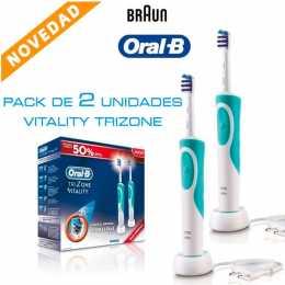 Pack de dos cepillos eléctricos Oral-B Vitality TriZone