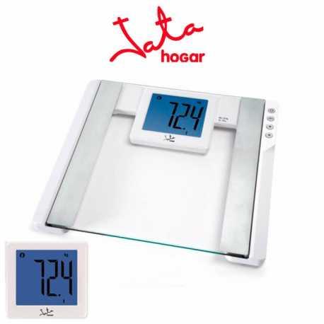 Báscula de baño Jata 565BL Digital inteligente, LCD XXL