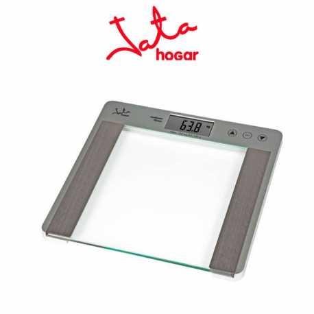 Báscula de baño Jata 527N Digital de cristal con analizador fitness