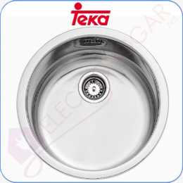 Fregadero Teka ERC 1C, Acero INOX, mueble de 45cm.
