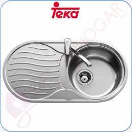 Fregadero Teka DR-80 1C 1E Reversible Acero inoxidable 18 10 profund