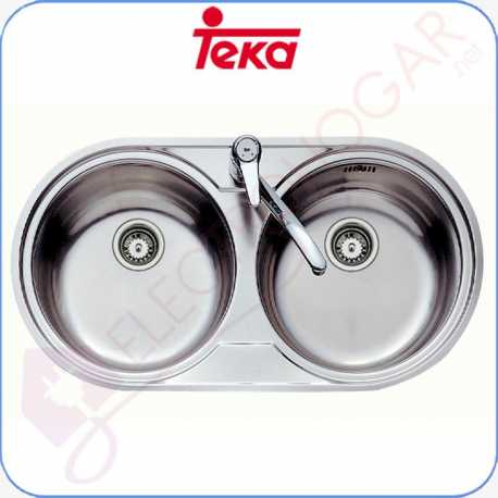 Fregadero Teka DR 80 2C Acero inoxidable 18 10 profundidad 160mm mu