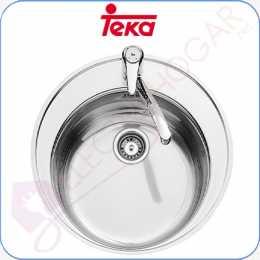 Fregadero Teka Centroval 1C Acero inoxidable 18 10 profundidad 180mm