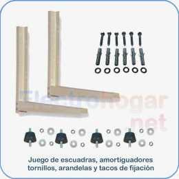 Kit soportes 50x45 para aire acondicionado de 1700Frg. a 4000Frg.