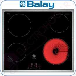 Encimera vitrocerámica digital Balay 3EB720XR marco de acero inox.