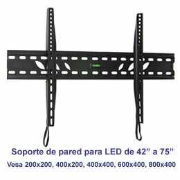 Soporte de pared fijo modelo SSP-314N para pantallas de 42 a 75