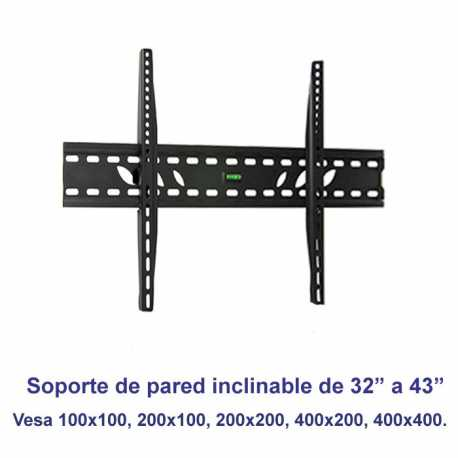 Soporte de pared inclinable SSP-326N para pantallas de 32 a 43