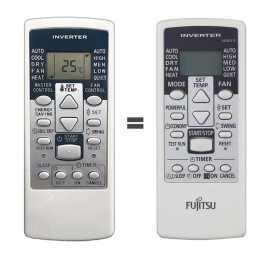 Mando a distancia Fujitsu / General AR-RCD1C sustituye al AR-RCE1E
