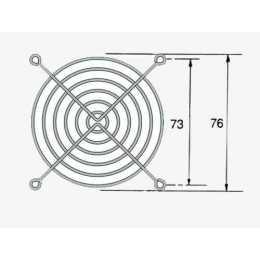 Rejilla para ventilador / extractor de 80x80 mm