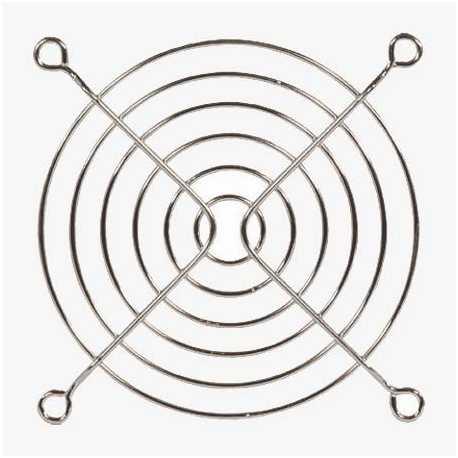 Rejilla para ventilador extractor de 120x120 mm