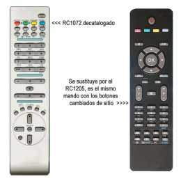 Mando a distancia original de LCD RC1072 Vestel OKI Hitachi etc