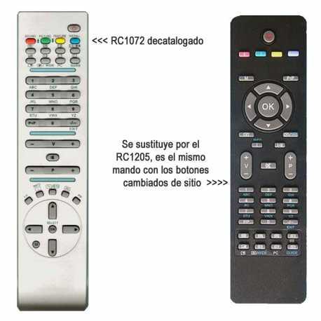 Mando a distancia original de LCD RC1072 Vestel OKI Hitachi etc