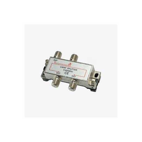 Derivador / Repartidor blindado entrada y 3 salidas paso de corriente.