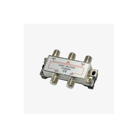 Derivador / Repartidor blindado entrada y 4 salidas paso de corriente