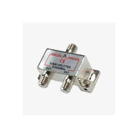 Derivador / Repartidor blindado entrada y 2 salidas con paso de corriente