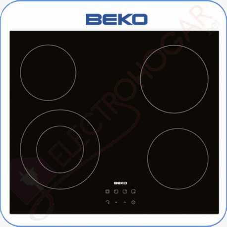 Encimera vitrocerámica digital BEKO HIC64402E, 4 zonas de cocción