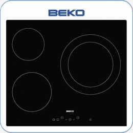 Encimera vitrocerámica digital BEKO HIC63401T 3 zonas de cocción