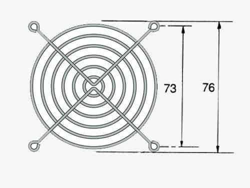 Rejilla de protección para ventiladores o extractores de 80 x 80 mm