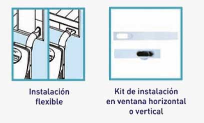 Sietema de instacion Aire portatil Daitsu APD9-AL tubo de extracion al exteriror