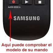 Localizar modelo mando Samsung AA59-00581A