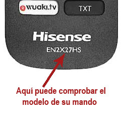 modelo mando Hisense EN2G30H