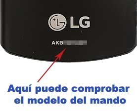Localización mando LG AKB73975729 y AKB73975761.