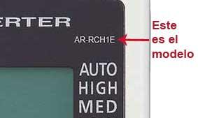 localizar modelo mando aire fujitsu AR-RCH1E
